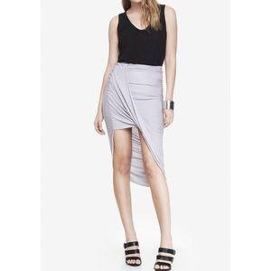 Express Loop Front Asymmetric Skirt
